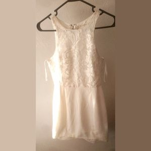 Here Comes The Sun White Lace Tank Dress